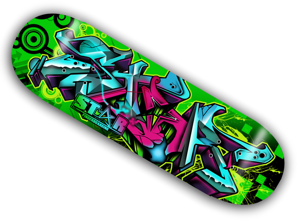 Sfb2 Quot Graffiti 2 Quot Graphic Wooden Fingerboard Deck